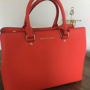 Michael Kors Savannah satchel Leather Bag -NWT-